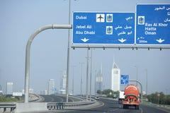 miasta Dubai linia horyzontu obrazy royalty free