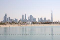 miasta Dubai linia horyzontu zdjęcie royalty free