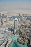 miasta Dubai metra panoramiczny widok Fotografia Royalty Free