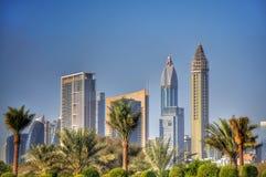 miasta Dubai metra panoramiczny widok Obraz Stock