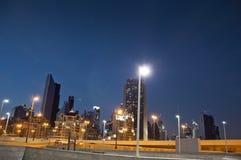 miasta Dubai noc scena Obraz Stock