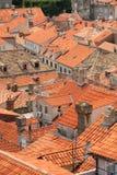 miasta Dubrovnik starzy dachowi wierzchołki obraz royalty free