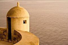 miasta Dubrovnik zmierzchu ściana Zdjęcie Royalty Free
