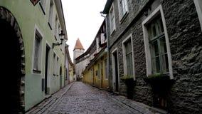 miasta eston mieści stare ulicy Tallinn tallinn Estonia zdjęcie wideo