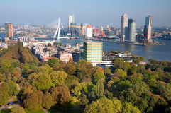 miasta euromast parka Rotterdam widok Zdjęcie Stock