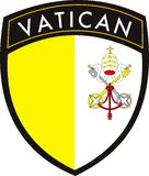 miasta flaga łaty Vatican wektor Zdjęcie Stock