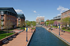 miasta frederick rzeka Fotografia Royalty Free