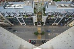 miasta głównej ulicy widok Obrazy Royalty Free