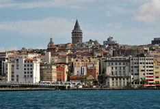 miasta galata Istanbul t wierza Zdjęcie Royalty Free