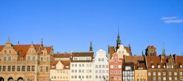 miasta Gdansk panorama Obrazy Royalty Free