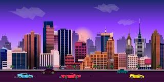 Miasta gemowego tła 2d zastosowanie 10 tło projekta eps techniki wektor Obraz Royalty Free