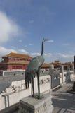 miasta groszaka żuraw zakazujący Zdjęcie Royalty Free
