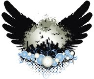 miasta grunge skrzydła Obrazy Royalty Free