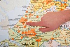 miasta holenderska Hague ręki mapa target2007_0_ zdjęcie stock