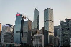 miasta Hong kong linia horyzontu Fotografia Stock