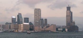 miasta Hong kong linia horyzontu Zdjęcia Royalty Free