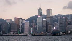 miasta Hong kong linia horyzontu Zdjęcie Royalty Free