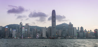 miasta Hong kong linia horyzontu Obraz Stock