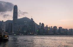 miasta Hong kong linia horyzontu Fotografia Royalty Free