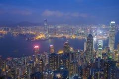 miasta Hong kong noc Obraz Royalty Free