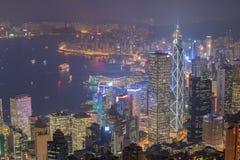 miasta Hong kong noc Obraz Stock