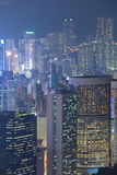 miasta Hong kong noc Zdjęcie Stock