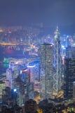 miasta Hong kong noc Obrazy Stock