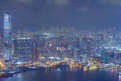 miasta Hong kong noc Fotografia Royalty Free