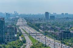 Miasta i autostrady widok obraz royalty free