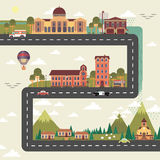 Miasta i przedmieścia ulicy plakat Obraz Royalty Free