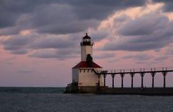 miasta Indiana latarnia morska Michigan usa fotografia stock