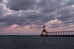 miasta Indiana latarnia morska Michigan usa obrazy royalty free
