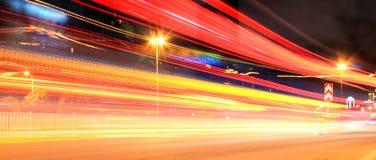 Miasta jaskrawy świecący Zdjęcia Royalty Free