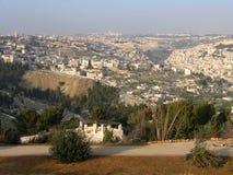 miasta Jerusalem punkt obserwacyjny widok Zdjęcie Stock