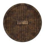 Miasta kanał ściekowy pokrywa (Manhole seria) Obraz Stock