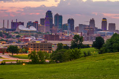 miasta Kansas linia horyzontu Obrazy Stock