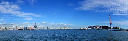 miasta Kaohsiung panoramiczny widok obraz royalty free