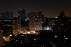 miasta Kiev noc ukrain widok Obrazy Stock