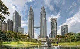 miasta klcc Kuala Lumpur parkowa linia horyzontu zdjęcia royalty free