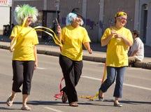 miasta kobiety parady królowej trzy kobiety młode Zdjęcie Stock