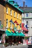 miasta kolorowy domów ludwika Quebec ruty święty obrazy stock