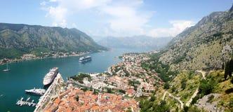 miasta kotor Montenegro panorama Zdjęcia Royalty Free