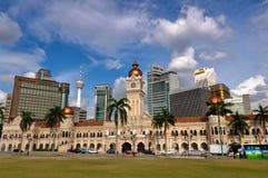 miasta Kuala Lumpur linia horyzontu Obrazy Stock