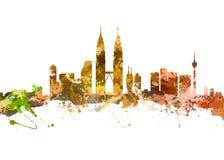 miasta Kuala Lumpur linia horyzontu Obrazy Royalty Free