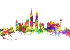 miasta Kuala Lumpur linia horyzontu Fotografia Stock