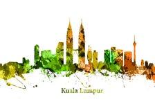 miasta Kuala Lumpur linia horyzontu Fotografia Royalty Free