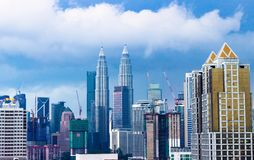 miasta Kuala Lumpur Malaysia linia horyzontu zdjęcie royalty free