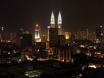 miasta Kuala Lumpur noc Fotografia Royalty Free