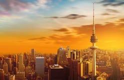miasta Kuwait linia horyzontu Zdjęcie Stock