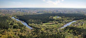 miasta lasów natury rzeka Vilnius Obraz Royalty Free